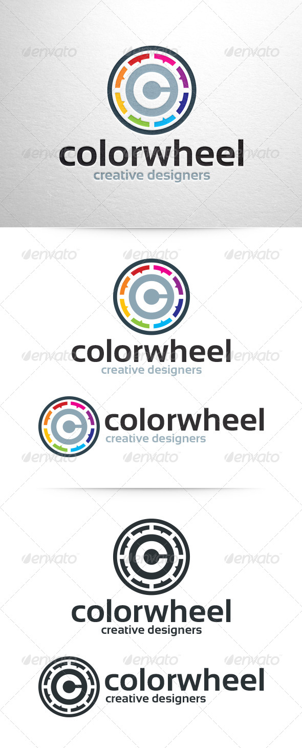 Color Wheel Logo Template - Letters Logo Templates