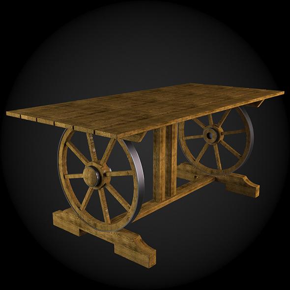 Garden Furniture 027 - 3DOcean Item for Sale