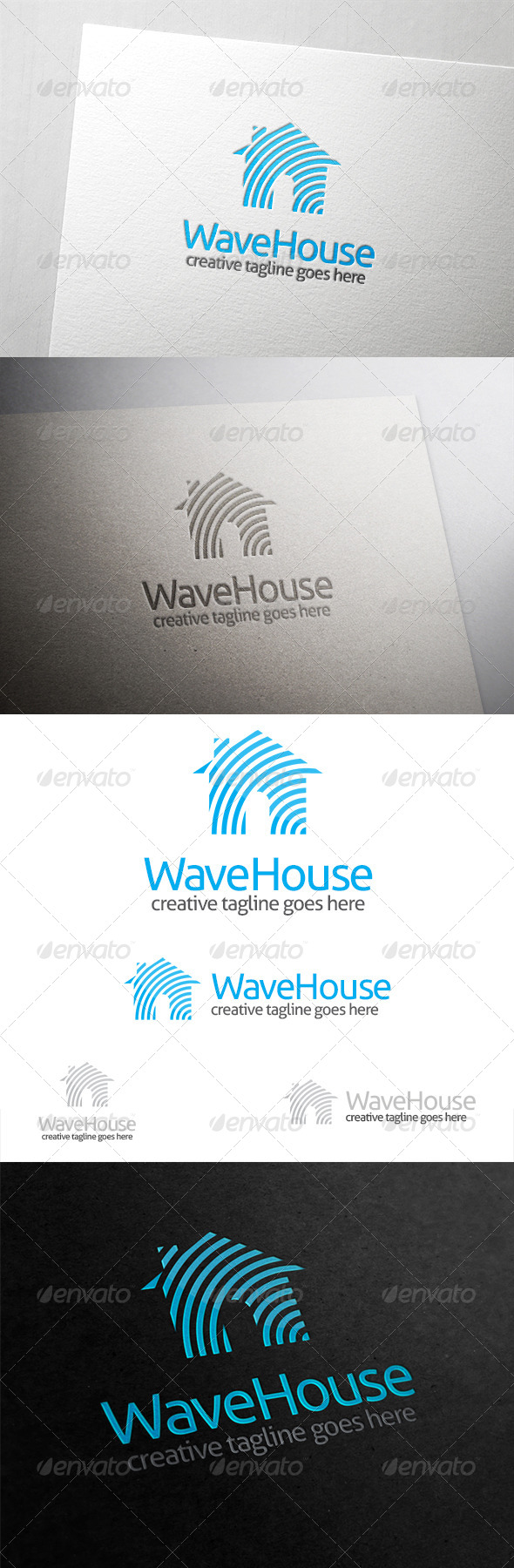 Wave House Logo - Buildings Logo Templates