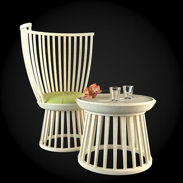 Garden Furniture 036 - 3DOcean Item for Sale