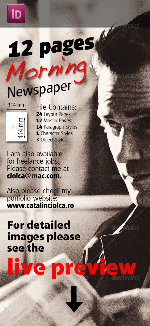 12 Pages Morning Newspaper - Miscellaneous Print Templates