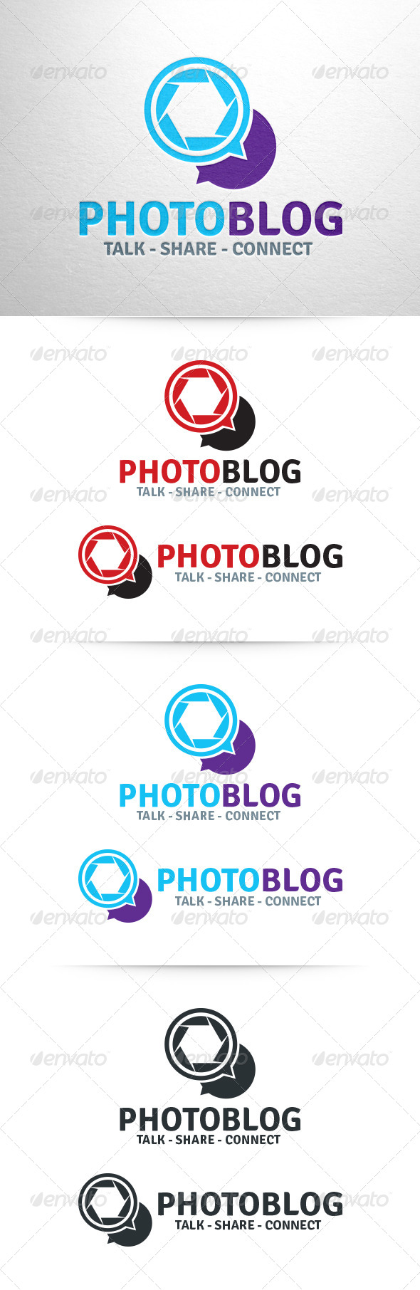Photo Blog Logo Template - Symbols Logo Templates