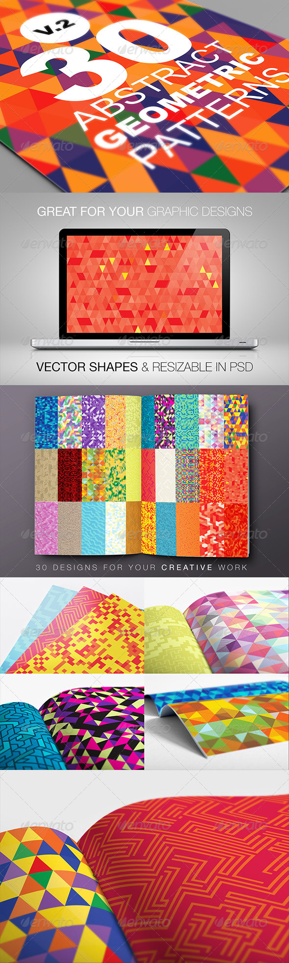 Abstract Geometric Backgrounds V.2 - Backgrounds Decorative