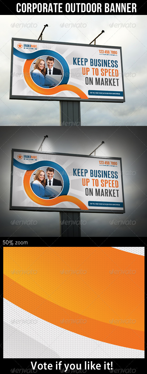Corporate Outdoor Banner 21 - Signage Print Templates