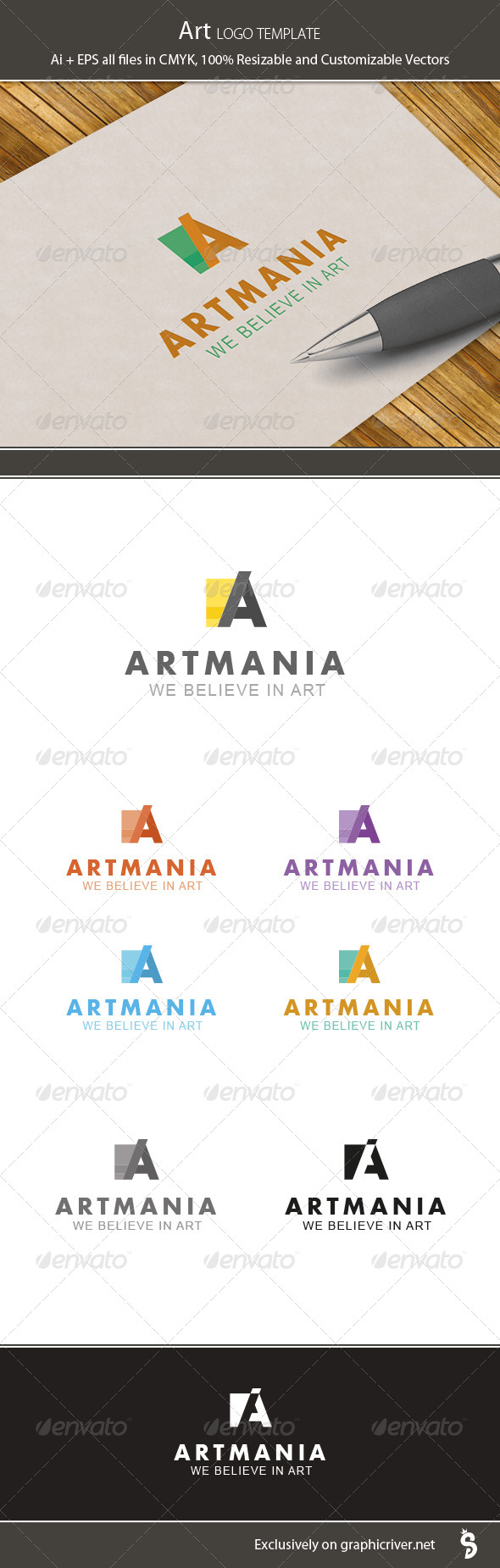 Art Logo Template - Letters Logo Templates