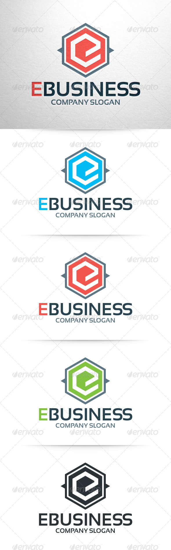E-Business - Letter E Logo Template - Letters Logo Templates