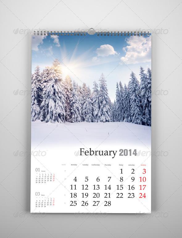 Wall Calendar Mockup Vol 01 by Brahmia   GraphicRiver