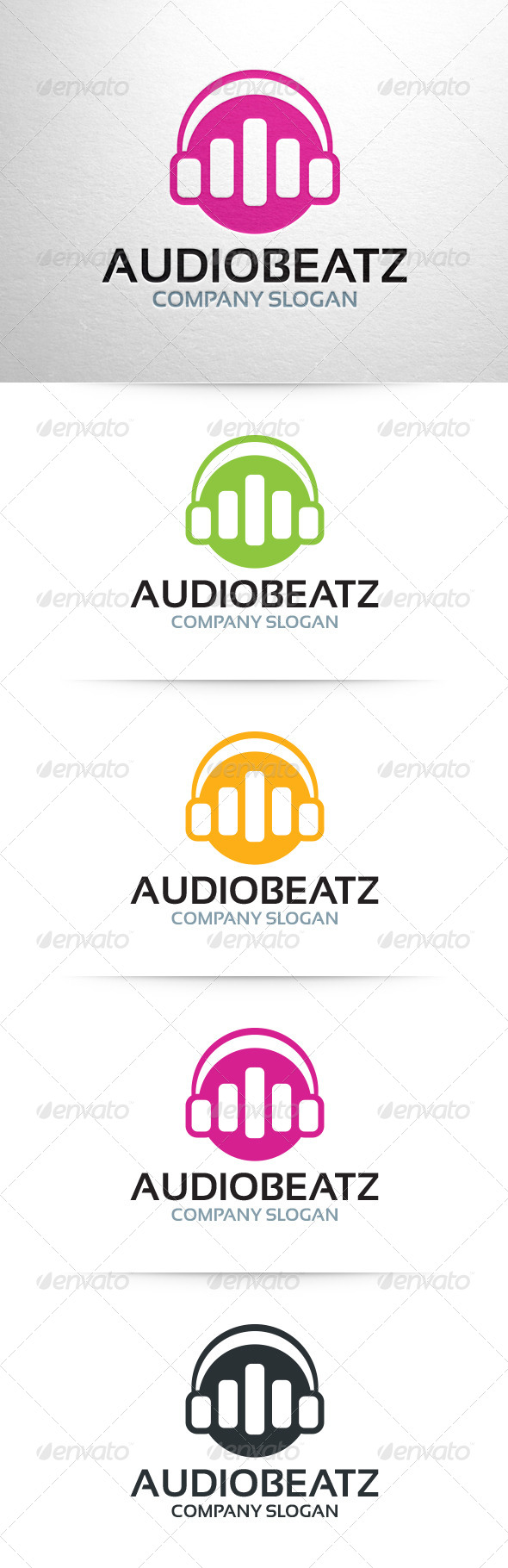 Audio Beatz Logo - Abstract Logo Templates