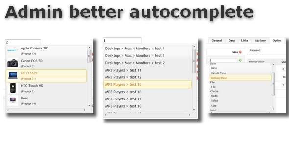 Admin better autocomplete for OpenCart - CodeCanyon Item for Sale
