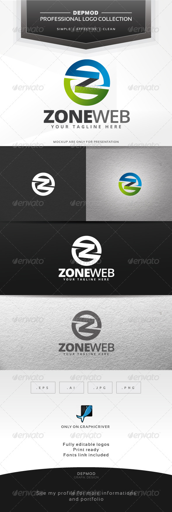 Zone Web Logo - Letters Logo Templates