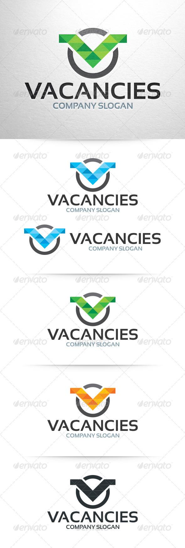 Vacancies - Letter V Logo Template - Letters Logo Templates