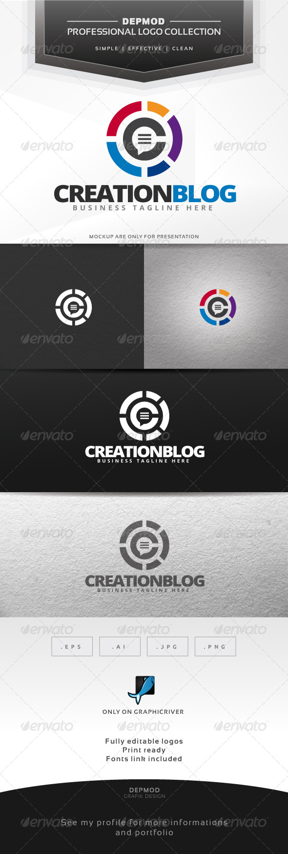 Creation Blog Logo - Symbols Logo Templates