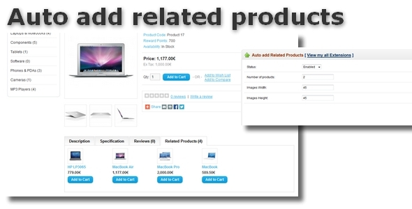 Auto add related products for OpenCart - CodeCanyon Item for Sale