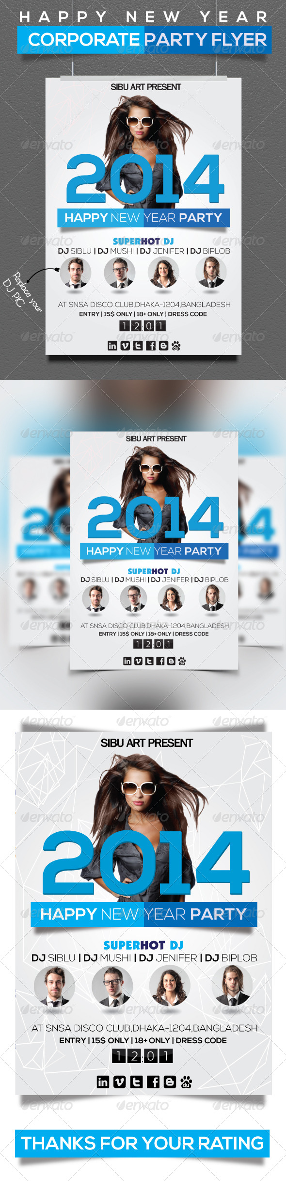 Corporate New Year Flyer - Clubs & Parties Events