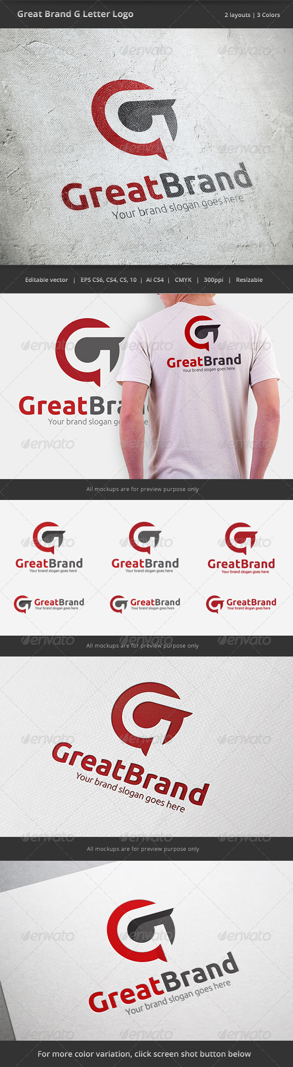 Great Brand Letter G Logo - Letters Logo Templates
