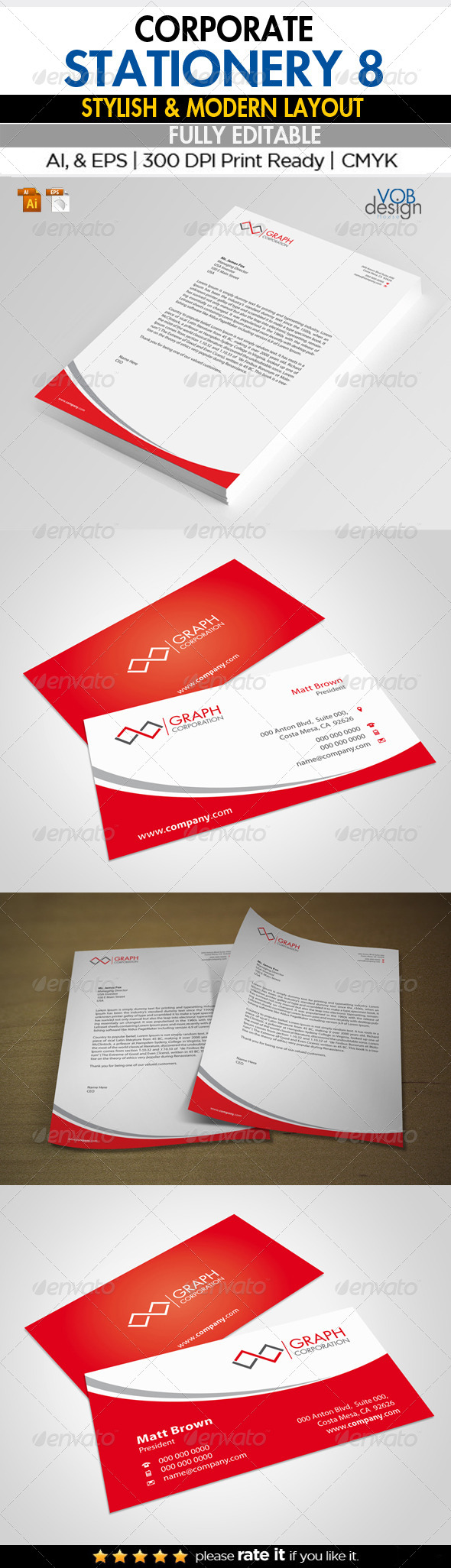 Corporate Stationery 8 - Stationery Print Templates
