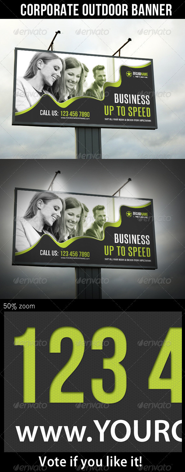 Corporate Outdoor Banner 22 - Signage Print Templates