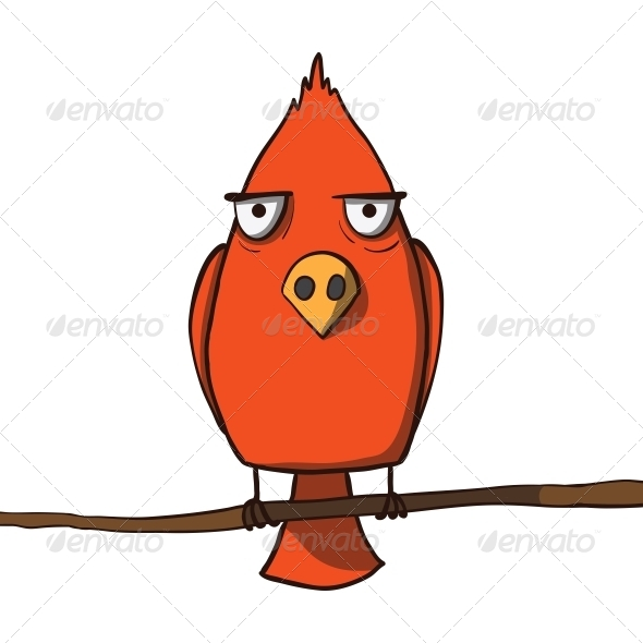 Red Cartoon Bird - Animals Characters