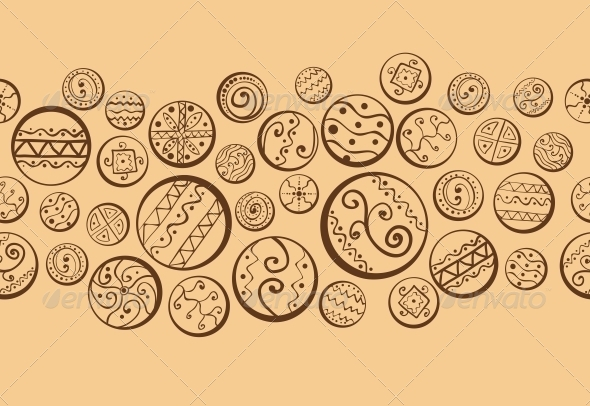 Abstract Background with Decorative Circles - Patterns Decorative