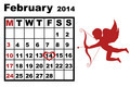 February calendar 2014 - PhotoDune Item for Sale