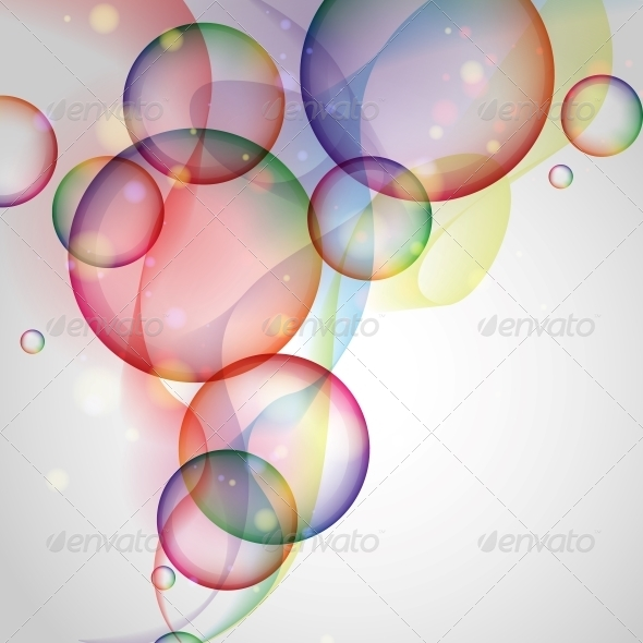 Colorful Glowing Bubbles Background - Backgrounds Decorative