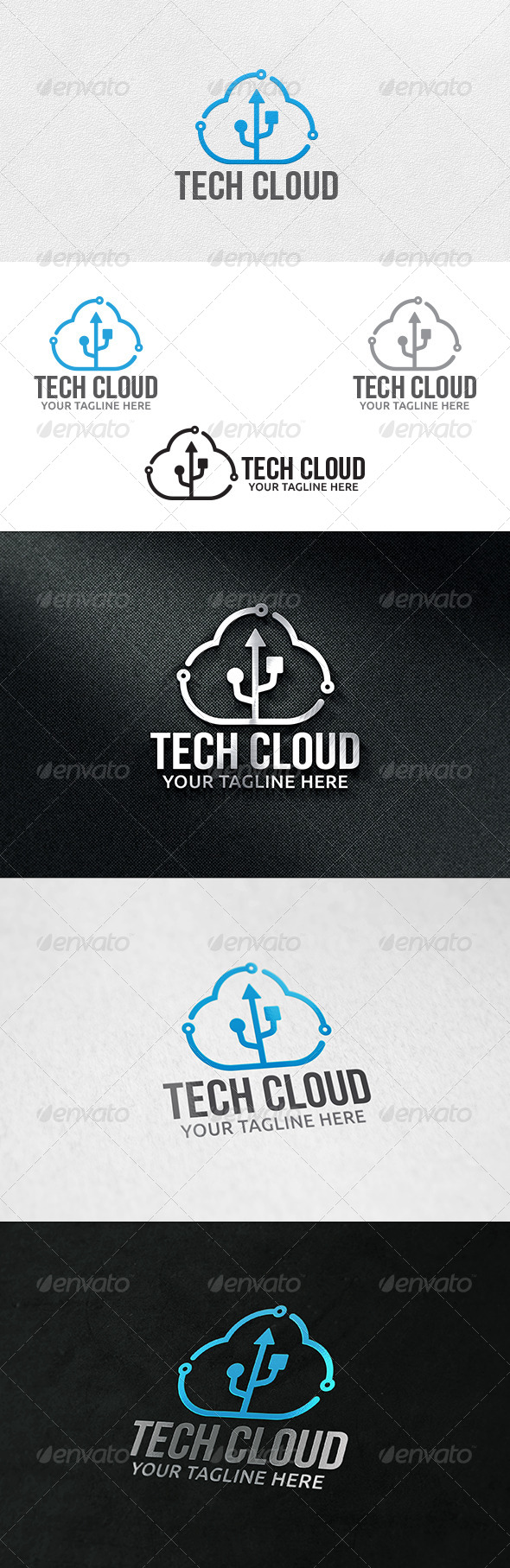 Cloud Tech - Logo Template - Symbols Logo Templates