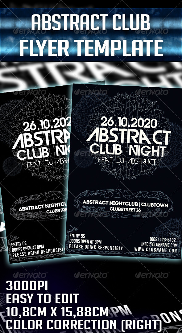 Abstract Party Flyer Template - Clubs & Parties Events