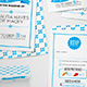 Blue Banner Wedding Stationery Set - GraphicRiver Item for Sale