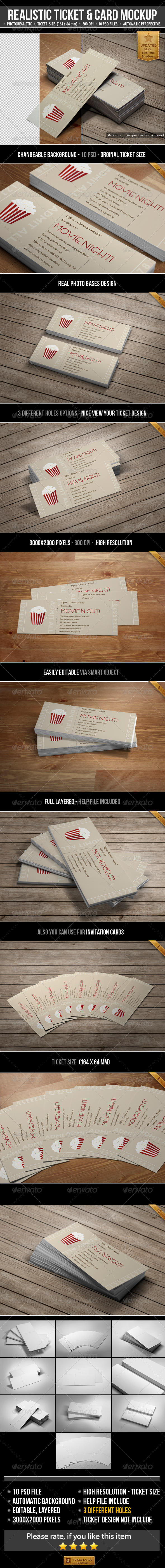 Realistic Ticket & Card Mockup - Miscellaneous Print