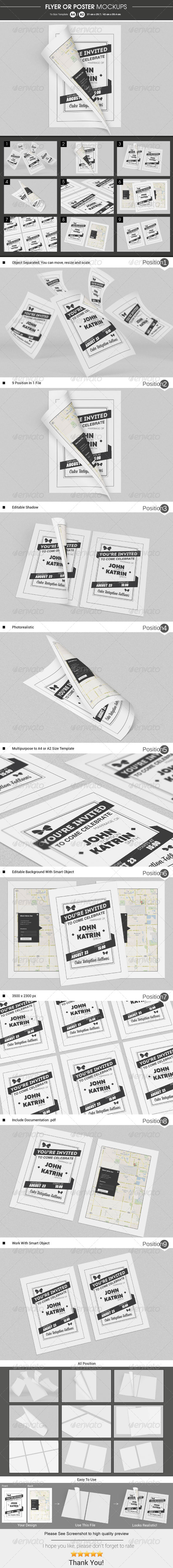 Flyer / Poster Mockups - Flyers Print