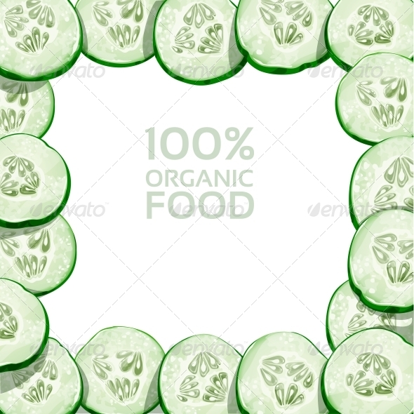Frame from Slices of Fresh Cucumber - Food Objects
