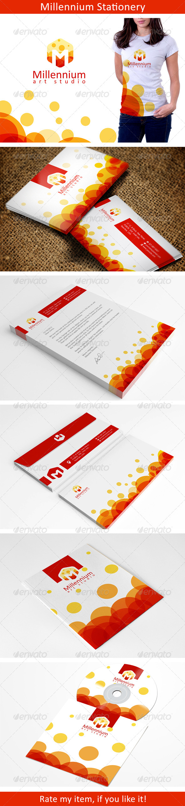 Colorful Stationery Template - Stationery Print Templates