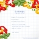 Paper Recipe with Peppers and Basil - GraphicRiver Item for Sale