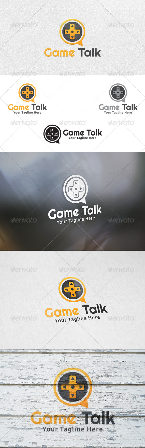 Game Talk - Logo Template - Objects Logo Templates
