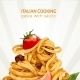 Italian Cooking Pasta with Sauce Banner - GraphicRiver Item for Sale