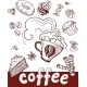 Coffee and Sweets.Handdrawing - GraphicRiver Item for Sale