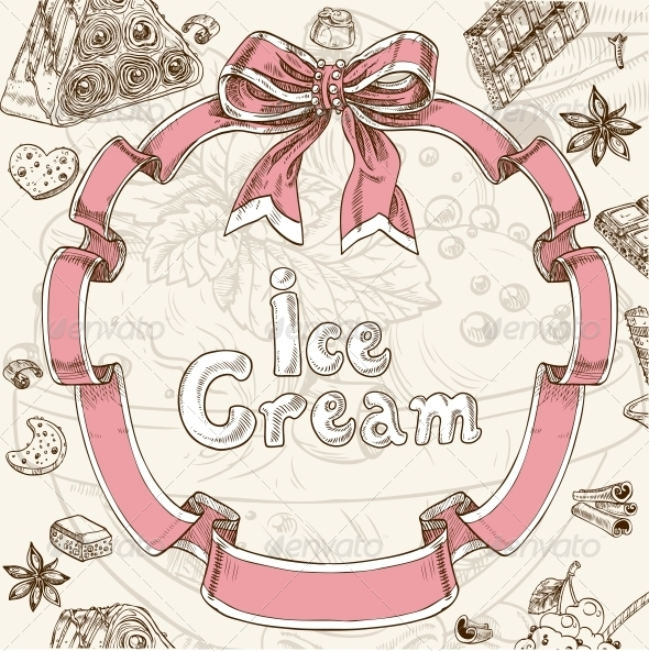 Ice Cream Sweet Background - Food Objects