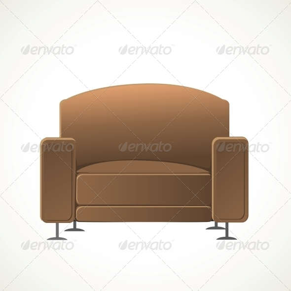 Brown Armchair - Man-made Objects Objects