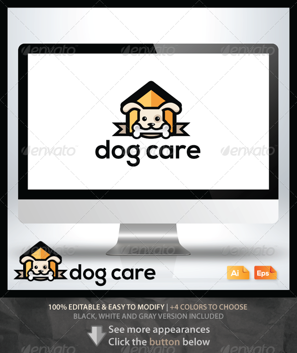Dog Care - Animals Logo Templates