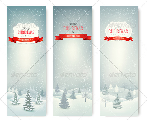 Christmas Winter Landscape Banners - Christmas Seasons/Holidays