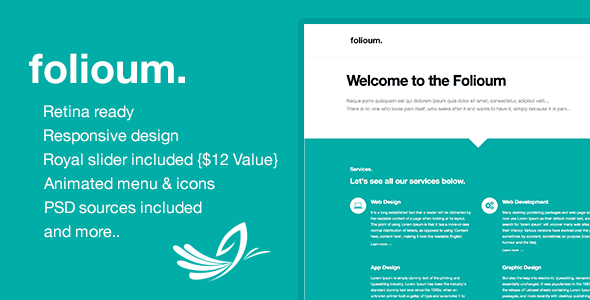 Folioum - Retina HTML5 Website Portfolio Template