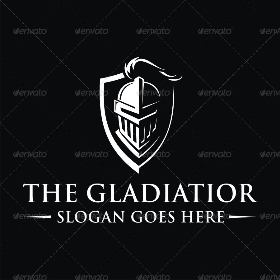 the gladiator logo by vector factory