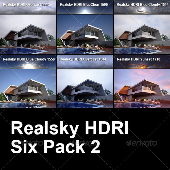 Realsky HDRI Six Pack 2 - 3DOcean Item for Sale