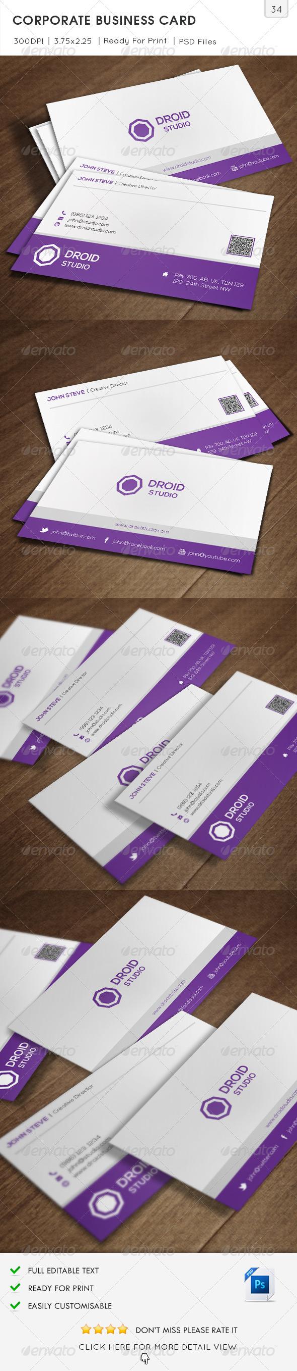 Corporate Business Card v34 - Corporate Business Cards