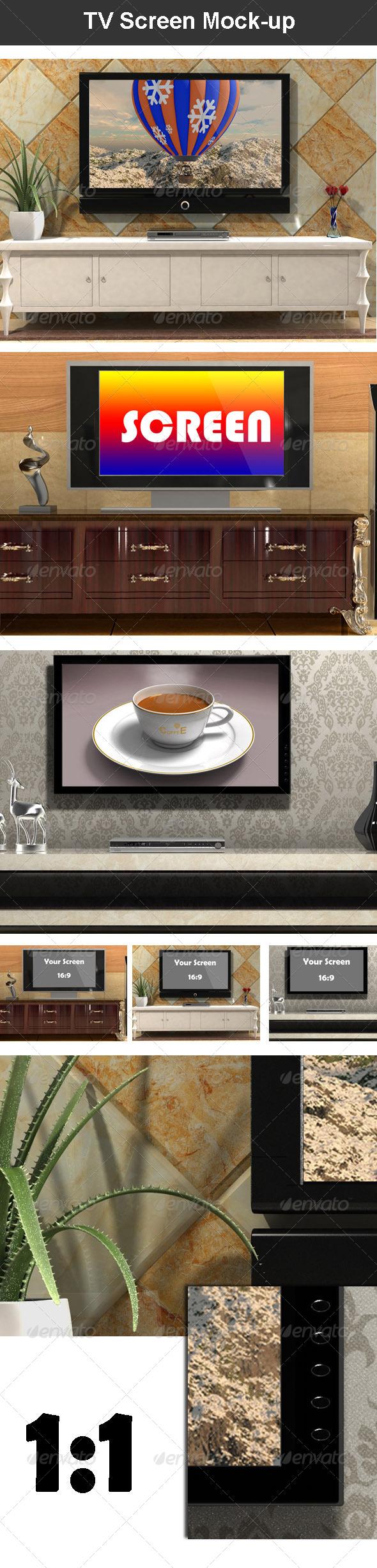 TV Screen Mock-up - TV Displays