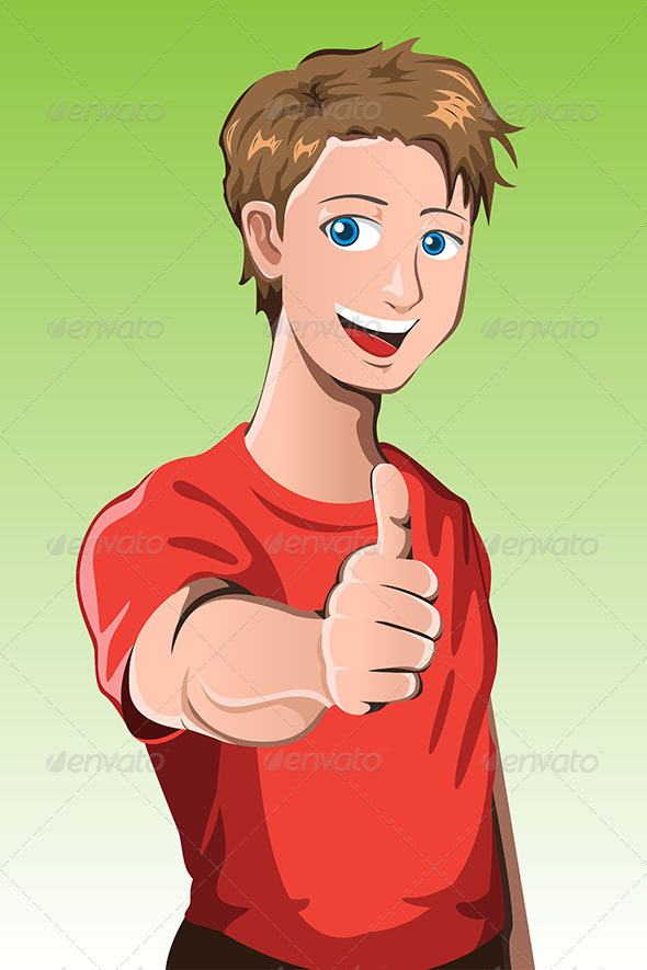 Man with Thumb Up - People Characters