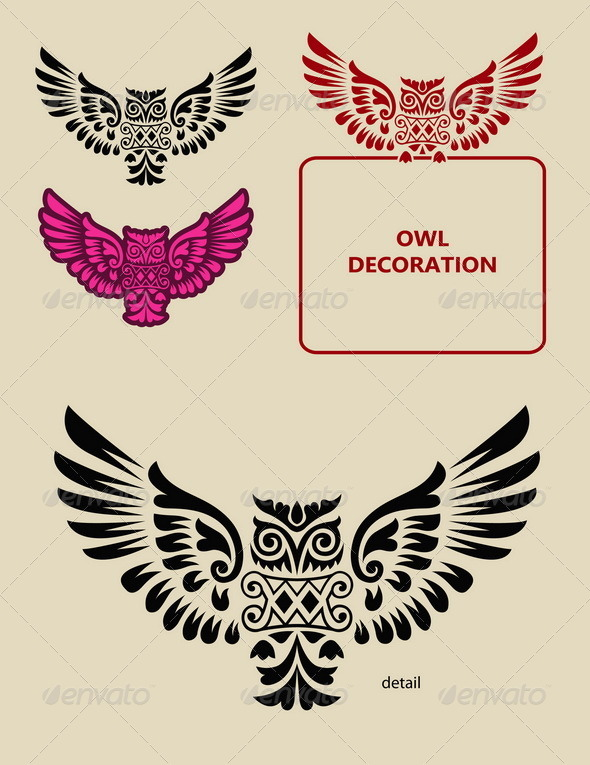 Owl Decoration - Animals Characters