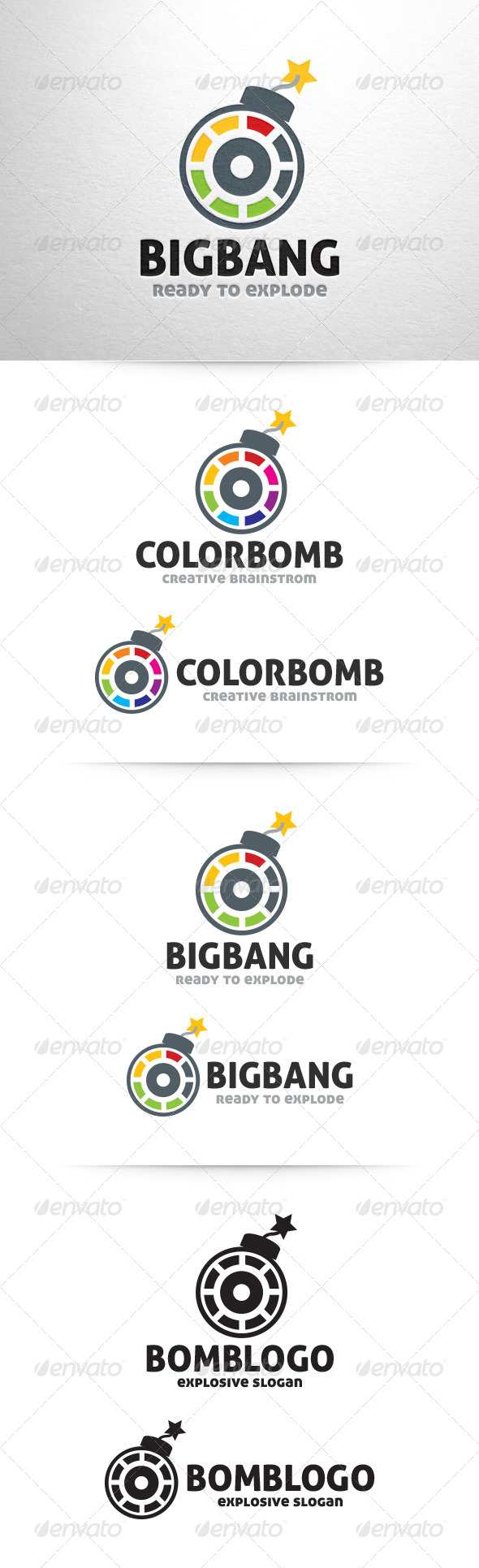 Bomb Logo Template - Objects Logo Templates