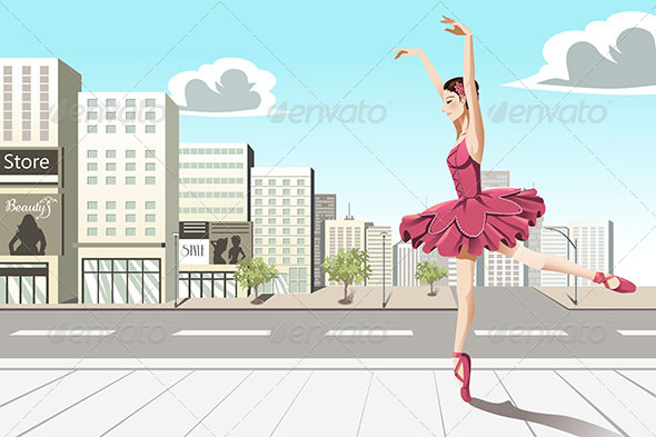 Ballet Dancer in the City - Sports/Activity Conceptual
