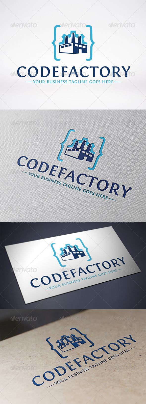 Code Factory Logo Template - Buildings Logo Templates